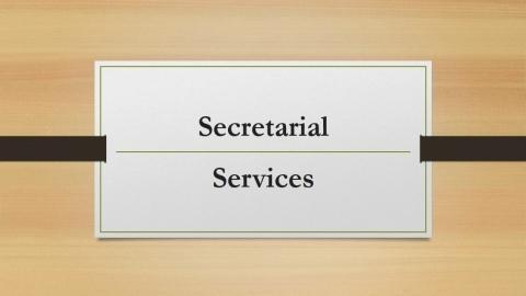 Why people take Hong Kong secretarial services?